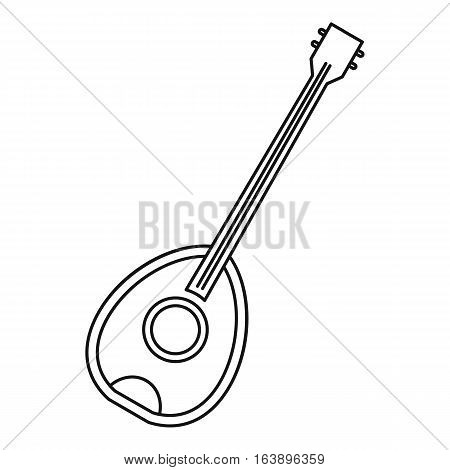 Saz traditional turkish music instrument icon. Outline illustration of saz traditional turkish music instrument vector icon for web