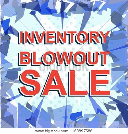 Red Striped Sale Poster With Inventory Blowout Sale Text. Advertising Banner