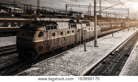 high-speed train in motion with railcar close-up