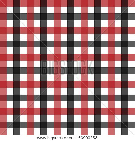 Seamless traditional tablecloth pattern. Checkered gingham plaid fabric seamless pattern