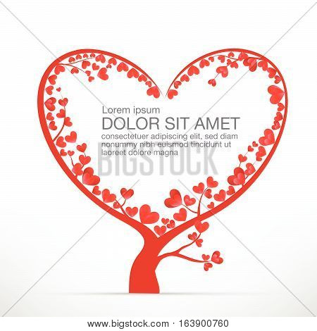 Heart Tree element for valentine day and wedding card decoration vector illustration eps10