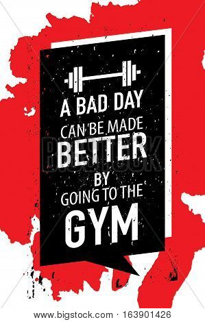 Gym exercise fitness workout motivation concept motivational poster design