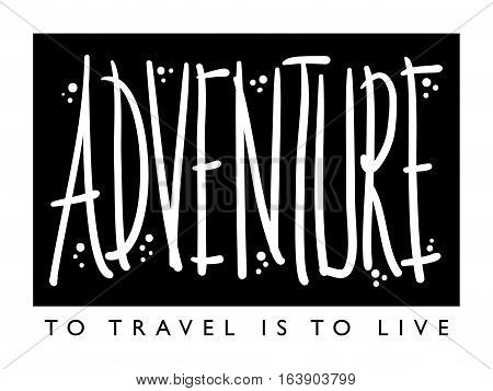 Travel and adventure concept illustration design background