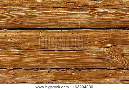 Orange Weathered Log House Surface.