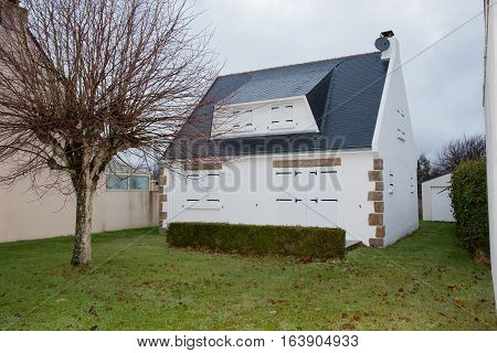 A Small Holiday Home Typical Of Brittany In France
