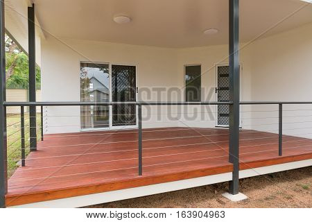 New timber deck on contemporary style home