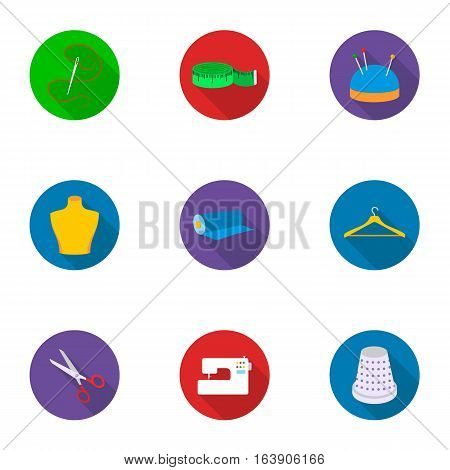 Atelie set icons in flat style. Big collection of atelie vector symbol stock
