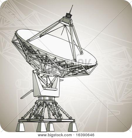 satellite dishes antena - doppler radar