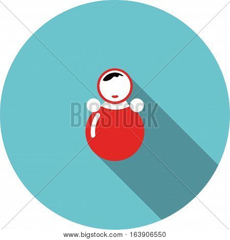 vector children icon red toy roly poly