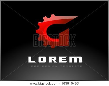 Letter G Logo with Red Colors. G Letter Icon Design Vector.