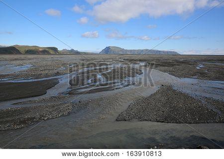 Volcanic Landscape near Vik I Myrdal in South Central Iceland