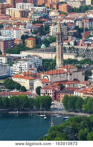 Basilica of St. Nicholas (San Nicolo), Lecco lake, Como, Italy