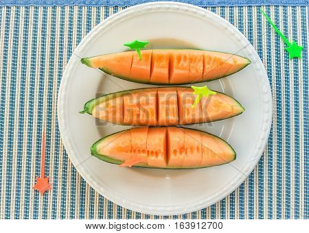 Cantaloupe Fresh Fruit