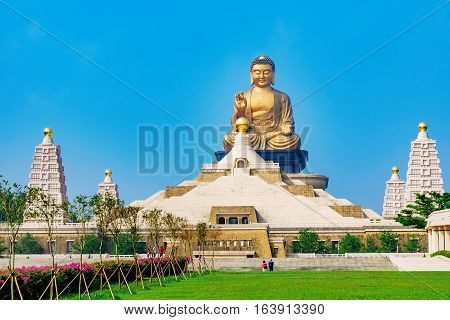 Fo Guang Shan Buddha statue with nature