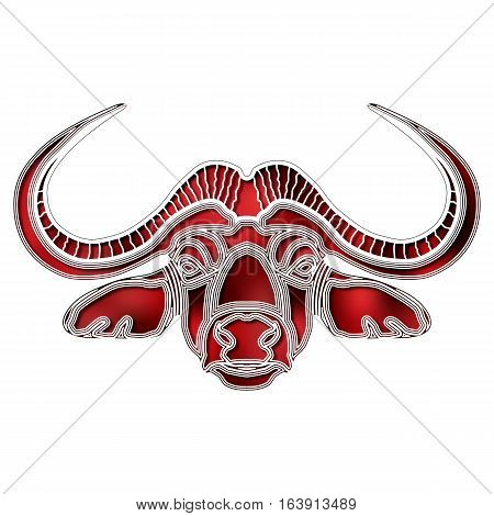 Bright colorful bull, zodiac Taurus sign for astrological predestination and horoscope