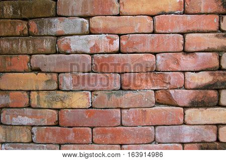 Old Background of red brick wall pattern texture