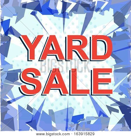 Red Striped Sale Poster With Yard Sale Text. Advertising Banner