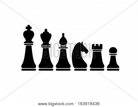 Chess Figures Vector Set