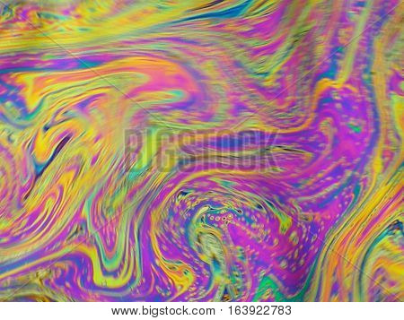 Beautiful Psychedelic Abstraction - Interference In Soap Films