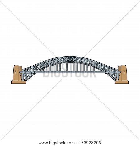 Sydney Harbour Bridge icon in cartoon design isolated on white background. Australia symbol stock vector illustration.