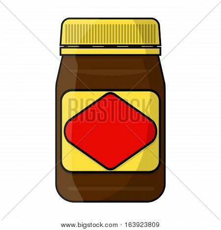 Australian food spread icon in cartoon design isolated on white background. Australia symbol stock vector illustration.