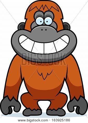 Cartoon Orangutan Grin