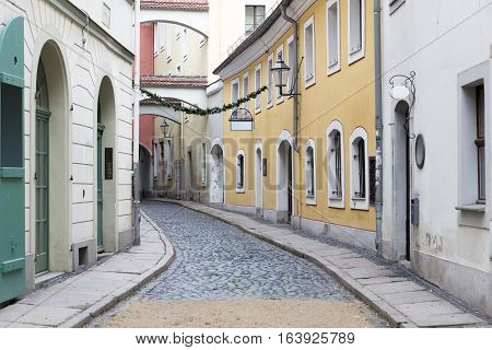 Picturesque alley in the town of Goerlitz, Germany