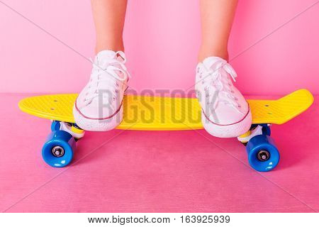 Extrem Girl With Skateboard