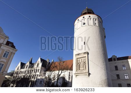 The Frauenturm tower in the town of Goerlitz, Germany