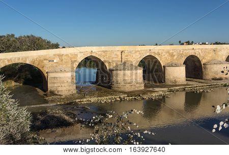 Roman Bridge over Guadalquivir river, Great Mosque, Cordoba, Spain