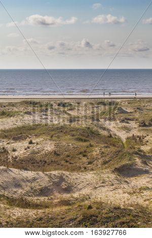 Dunes, Vegetation And Beach At Cassino Beach