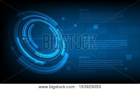 Abstract Circle infographic digital technology background futuristic structure elements concept background design