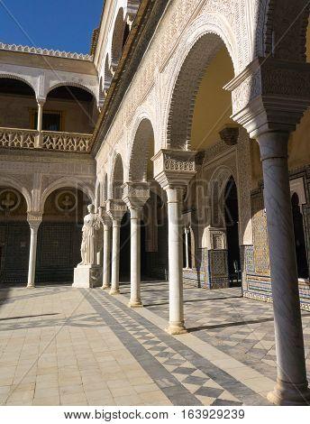 Courtyard of Casa de Pilatos Seville, Spain, 16th century