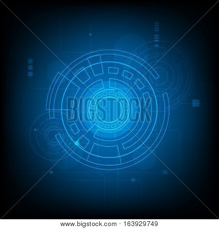 Abstract Circle digital technology background futuristic structure elements concept background design