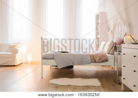 Interior With Bed And Sofa
