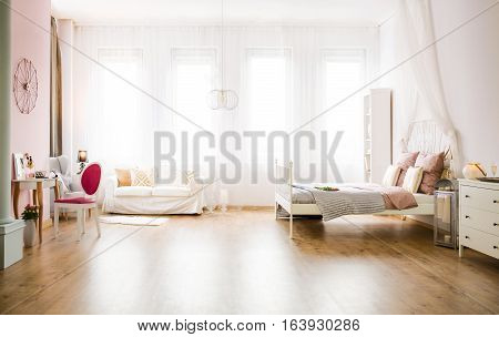Multifunctional Room With Sofa