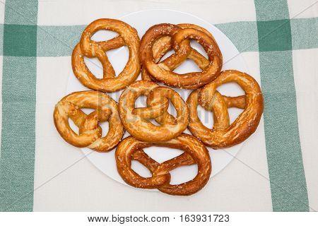 Fresh handmade original Bavarian pretzels from the domestic master baker