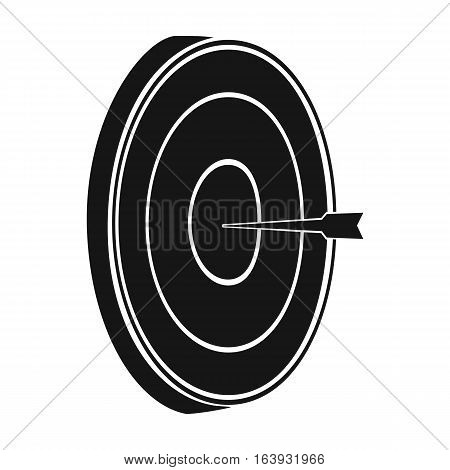 Darts icon in black design isolated on white background. Pub symbol stock vector illustration.