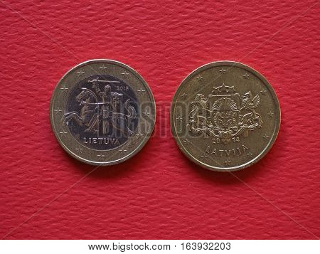 1 Euro And 50 Cents Coins, European Union