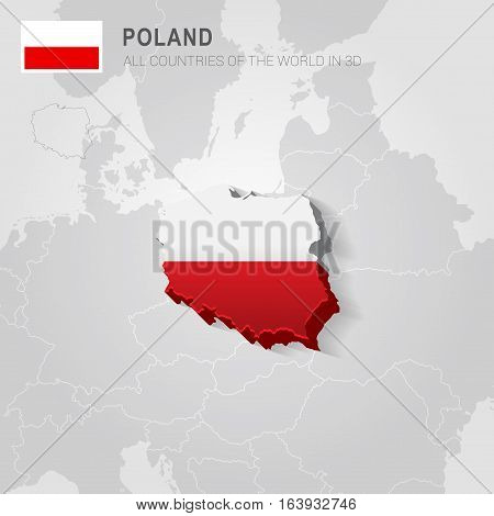 Poland and neighboring countries. Europe administrative map.