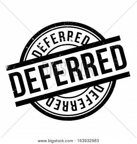 Deferred rubber stamp. Grunge design with dust scratches. Effects can be easily removed for a clean, crisp look. Color is easily changed.