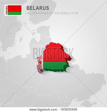 Belarus and neighboring countries. Europe administrative map.