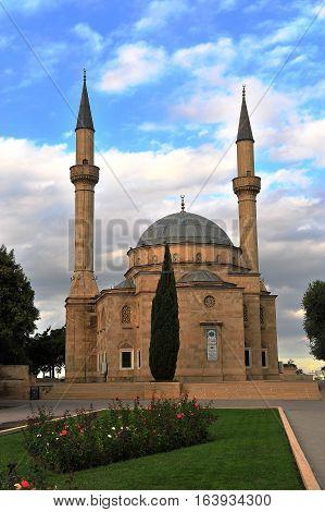 Martyrs mosque in Baku city capital of Azerbaijan