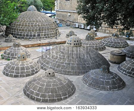 Sulphur bath in Baku old town Azerbaijan