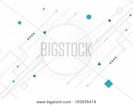 Abstract white Circle digital technology background futuristic structure elements concept background design
