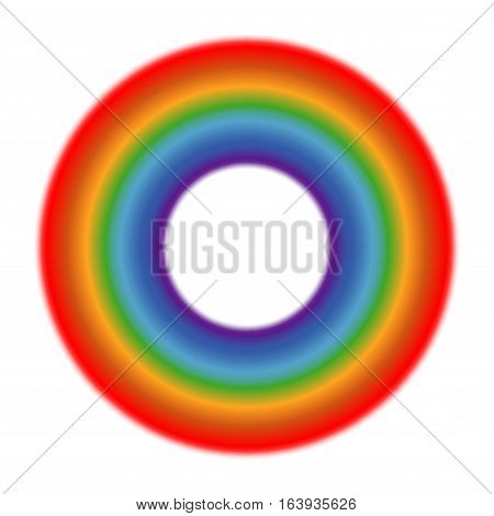 Vector circle rainbow white background. Color round symbol bright illustration
