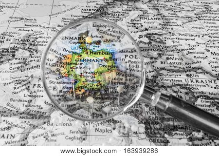 The Detail Of The Map Of Germany