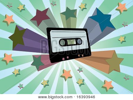 cassette with stars