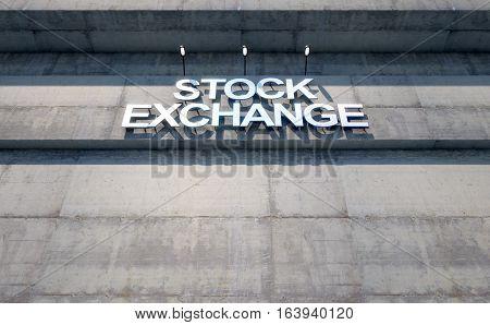 Modern Stock Exhange Signage