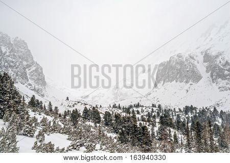 Winter in High Tatras Mountains. High Tatry. Slovakia.